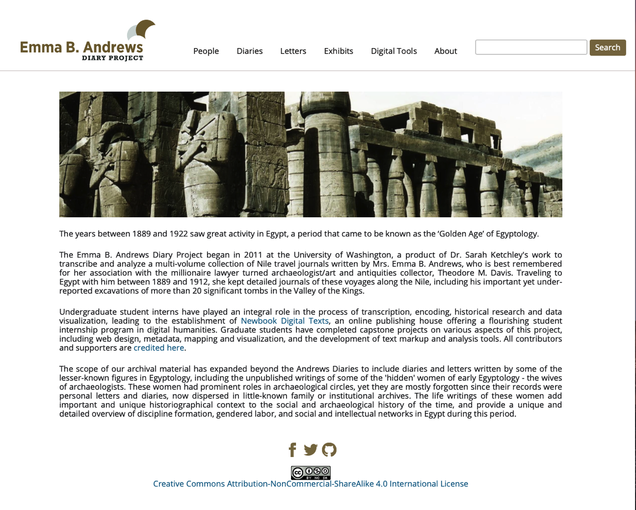 Emma B. Andrews Diary Project Website Redesign