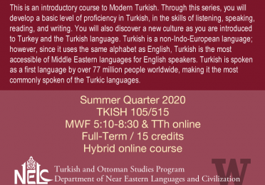 TKISH 105/515 - Intensive Elementary Turkish Flyer