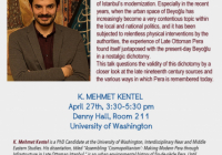 Mehmet Kentel does a historical archaeology of Pera