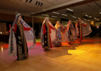 Nowruz dancers in traditional outfits perform
